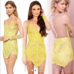 BNWOT! For Love & Lemons Antigua Mini Dress